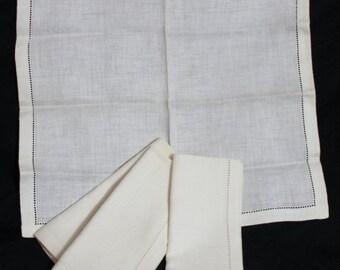 4 vintage damask linen napkins