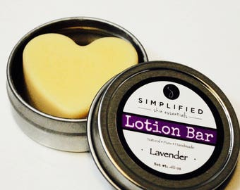 Lotion Bar/All Natural Body Butter/Organic Moisturizer/Foot Lotion/Dry Skin Relief and Protection/Mother's Day Gift/Lavender/Gift for Her