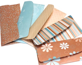 Cash System Envelopes, Money Gift Paper Pouches, Brown Blue Budget Envelopes, Birthday, Wedding Guest Book Alternative itsyourcountry