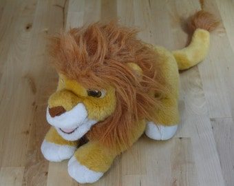 Vintage Disney's The Lion King Roaring Simba Hand Puppet Stuffed Animal 1993