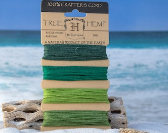 Emerald Green Hemp Card, 10lb Hemp Twine,   168 Feet,  Craft Cord -CH54