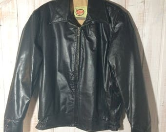 Vintage Leather, Outdoor 70s jacket, brown jacket made by the Canada size 40