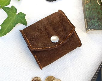 Leather purse, leather wallet, brown leather purse, men's gift, men's leather goods, elegant gift