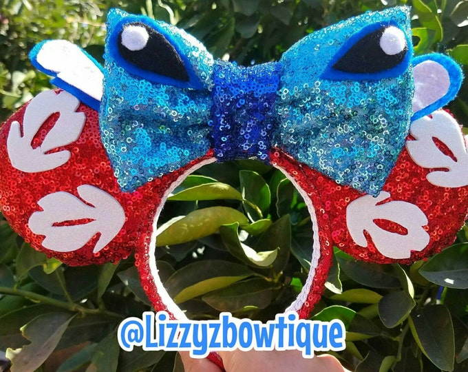 Lilo and Stitch Sequin Minnie ears