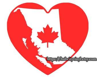 Love for BC Flag Decal