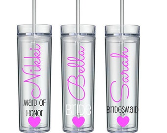 1 Personalized Tumbler, Bridesmaid Gift, Gift, Personalized Tumbler, Personalized Cup, personalized water bottle