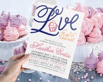 Love is Sweet Bridal Shower Invitation // Print Yourself 5x7 DIGITAL FILE