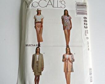 McCall's Sewing Pattern Cardigan Tunic Pants Jacket Uncut  Size 12 14 16
