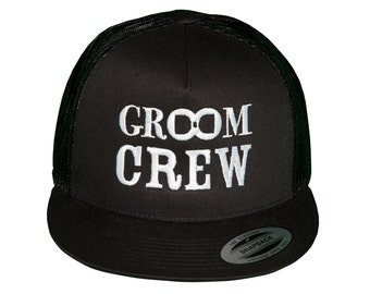 GROOM CREW Hat, Hat for Groom Crew, Gift from Groom, Hat for Bachelor Party, Groom Crew Swag, Groom Crew Gift, Fun Groom Crew Hat