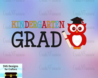Kindergarten Graduation SVG, DXF. Cutting file for Silhouette Cameo and Cricut design space.  Graduation gift, kids graduation svg, dxf