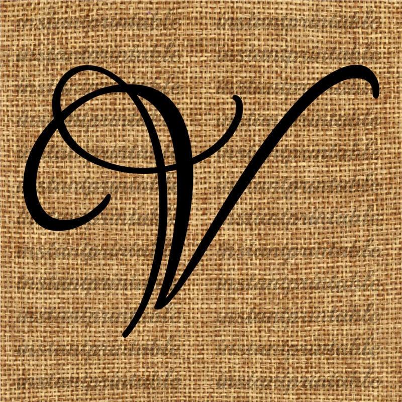 S And V Letter Tattoo Love: Monogram, Initial Letter V, Letter Clip Art, Letter Decal