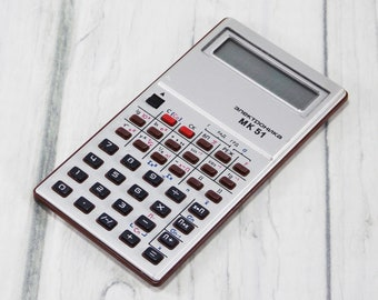 Calculator retro electronics gadget computer office computer office hand held mathematics teacher gift adding machine electronic memory