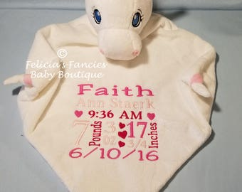 Personalized Baby Gift,  Lamb Shown Wee Snuggle Blanket, Special Baby Gift, Baby Gift by Felicia's Fancies