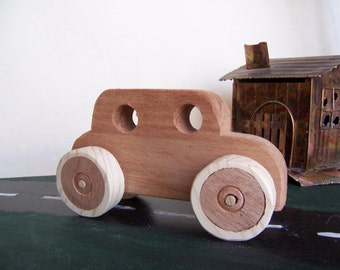 Toy Truck Wood All-Terrain Vehicle from Reclaimed Walnut Accented with Pine for the Kids, Children
