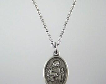 Saint Agnes Medal Necklace