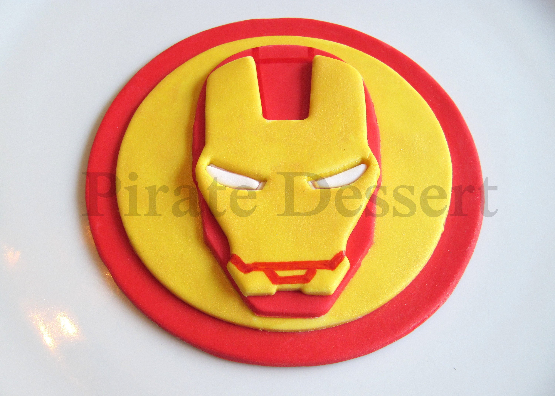 Iron Man Fondant Cake Topper