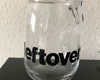 "Glass container ""leftovers"""