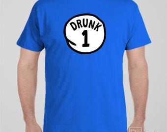 Funny Bucks party T-shirt - Drunk - for bucks or stag night - more numbers available