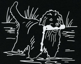 Original Newfoundland Dog Decal by S Nummer