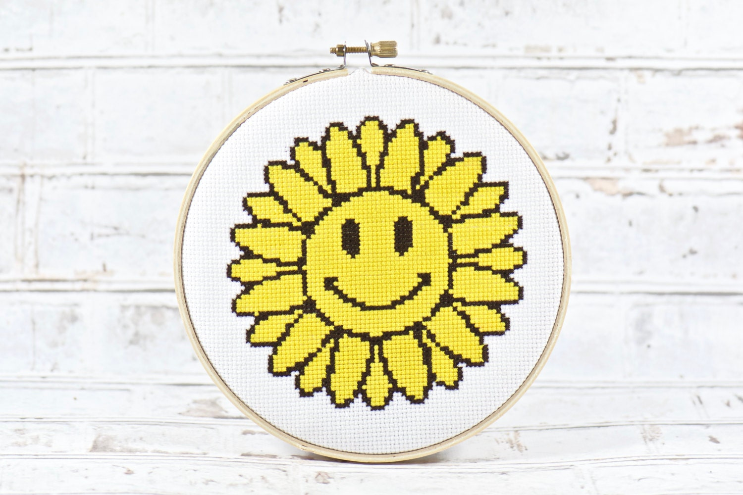 Flower Cross Stitch INSTANT DOWNLOAD, It\'s Always Sunny, Yellow ...