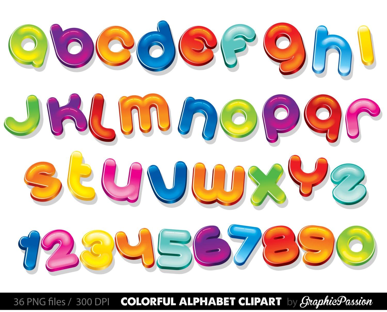 Colourful Alphabet Clipart Color Alphabet Digital Alphabet