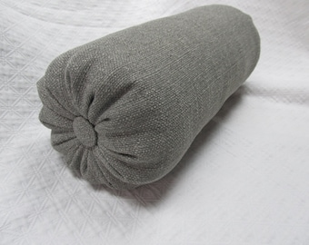 MEDINA GRAVEL gray Bolster pillow 6x14 6x16 6x18 6x20 6x22