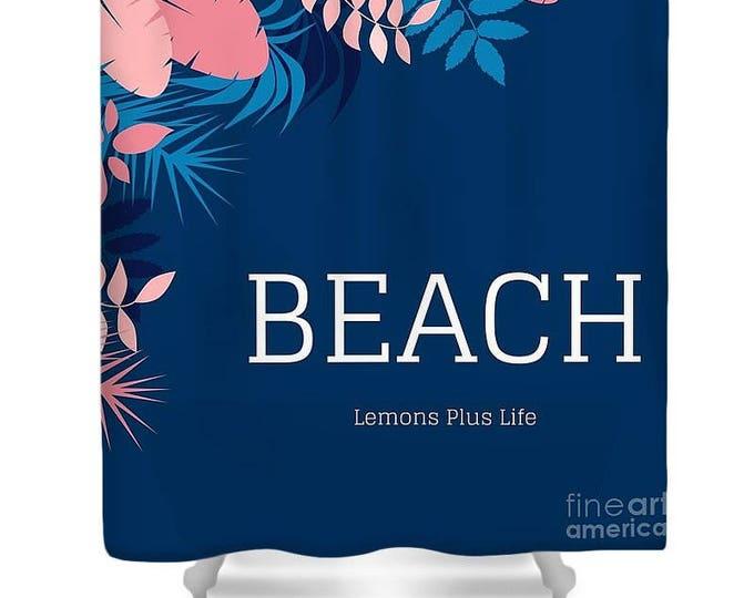 """Shower Curtain """"Beach"""""""