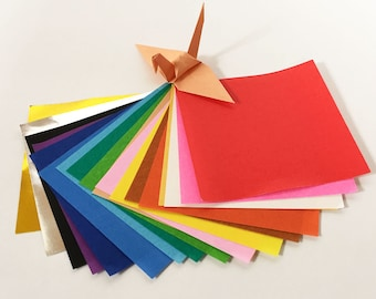 "Origami Paper Sheets - Colored Paper Assortment - 500 3"" Sheets"