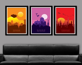 Star Wars Force Inspired Planets - Series 1 - Poster 154 - Home Decor, Movie Poster