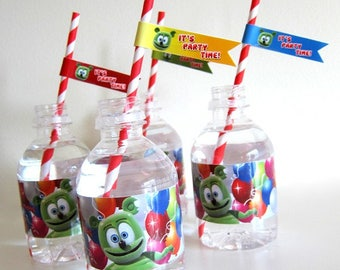 Gummibär (The Gummy Bear) Straw Flags ~ Download ~ Printable ~ Party Decorations