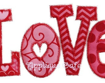 068 Love Machine Embroidery Applique Design