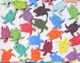 Plantable Seed Paper Confetti Turtles - Beach Wedding Favors - Flower Seed Paper Turtles - Wedding Confetti