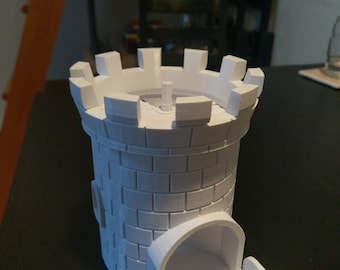 Dice Tower with Secret Chamber and Foldable Drawbridge | DND | Dungeon Master| Dice Roller | Dungeons and Dragons | RPG | Tabletop Gaming