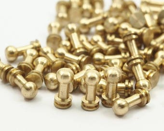 20 Raw Brass Industrial Findings (9x4mm) A0643