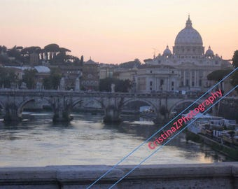Tiber River at sunset