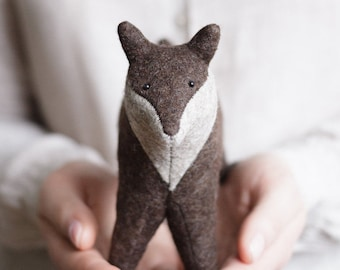 Wool Felt Fox 6 Inches, Stuffed Animal, Personalized Gift, Woodland Animals, Handmade Toy, Soft Animal Sculpture, Ready To Ship