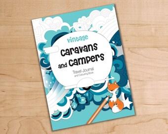 Vintage Caravans and Campers Travel Journal & Coloring Book