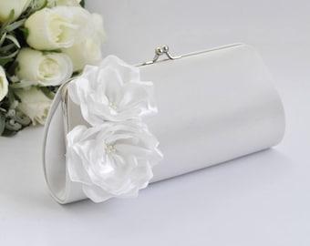 Off White Bridal Clutch