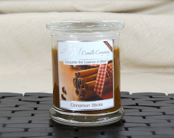 Cinnamon Sticks  -Scented Soy Candles, Cinnamon Scented Candles, Holiday Candles, Christmas Candles, Thanksgiving Candles, Gifts for Her