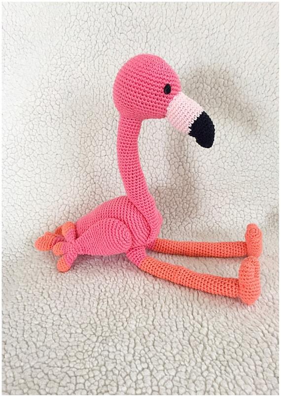 Flamingo Crochet Pattern Tutorail Amigurumi Crocheted Pattern Pdf