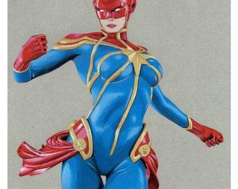 Captain Marvel Prints