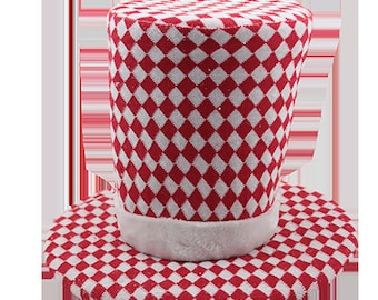 "19"" Red Checkered Top Hat/Snowman Top Hat/Wreath Supplies/Tree Topper/FX59823"