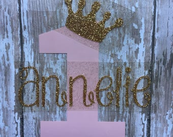 Birthday Princess with name Iron on Decal/ DIY Birthday Shirt/DIY Birthday Princess Baby Outfit/ DIY Personalized Birthday Shirt