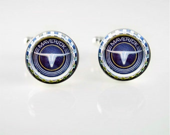 Vintage Ford Maverick Cuff Links or Tie Clip