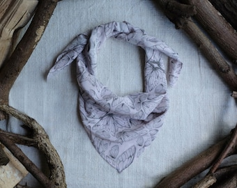 Square Silk Scarf in Insect Wings Rose Quartz Print  // Silk Scarf Square - Square Scarf - Silk Crepe de Chine