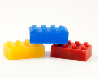 Brick Soap - For the tub time engineer - Organic Oils Building Block Soap - Fun for Kids - Vegan Friendly
