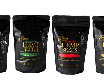 Locally grown fresh hemp hearts, seasoned and natural