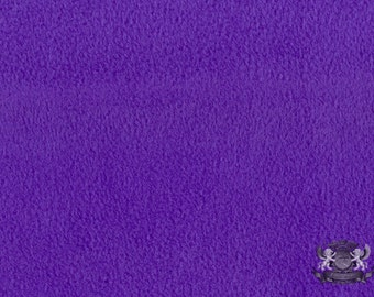 "Fleece SOLID Purple 49 Fabric / 58"" Wide / Sold by the yard"