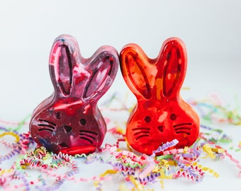 Easter Kids Bunny Crayons - Large Scribbler Size Bunny Crayon - Single Easter Bunny Crayon for Kids - Easter Gift for Kids - Kids Crayons
