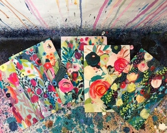 Greeting Cards--Set of 6 blank cards with original artwork by Carrie Schmitt